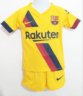 Uniforme De Fútbol Barcelona Messi Niños Visitante 2019-2020