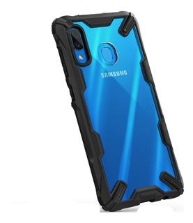 Funda Galaxy A70 A50 A30 Ringke Fusión X + Protector Camara#