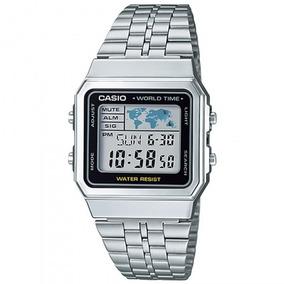 Relógio Casio A500wa-1df Padrão Unissex Prata - Refinado