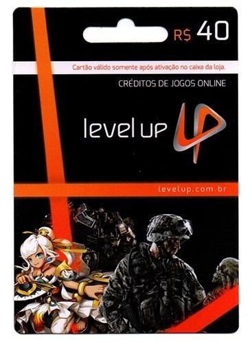 Cartão Level Up R$40 Reais Cash Game Level Up Card