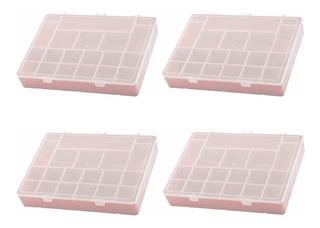 Kit 4 Box Organizador G G Divisória Maleta Caixa Plástico