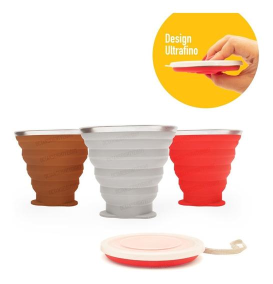 Copo Retrátil Reutilizável Ecológico Bpa Free - Disc Cup
