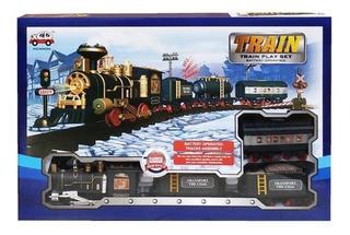 Train Play Set Tren Con Sonido Pista Y Accesorios Ck Full