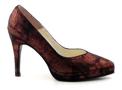 Zapato Mujer Cuero Briganti Vestir Taco Suela - Mccz03299 07