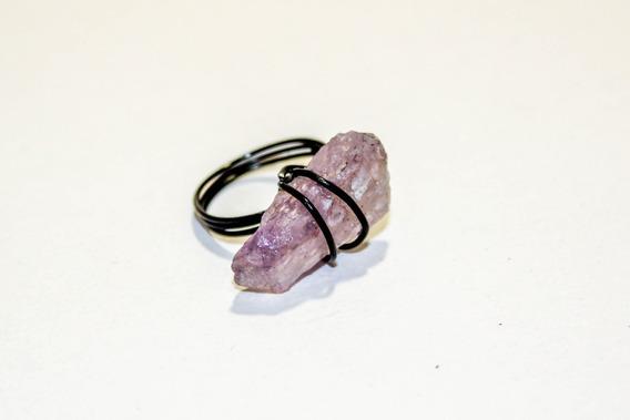 Anillo De Piedra Amatista Natural - Anillo Simplex