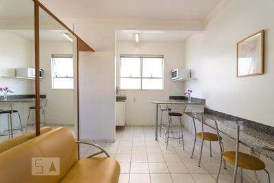 Flat Em Rede De Hotel - Térreo Mobiliado Com 1 Dormitório - Id: 892928327 - 228327