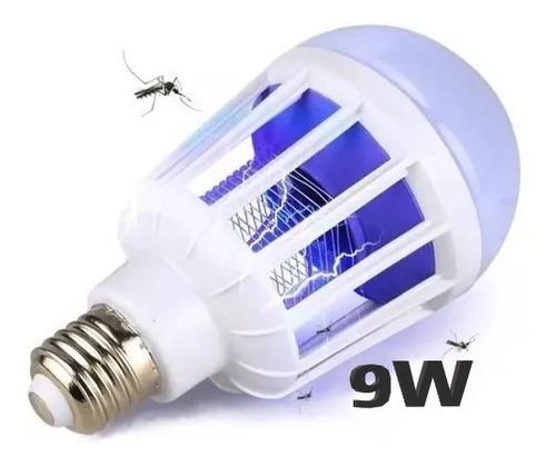 Lampara Led Luz Uv Mata Insectos Mosquitos Foco 9w E27 220v