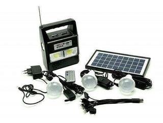 Kit 3 Lâmpada Led Gerador Placa Solar Usb Gd-plus 999
