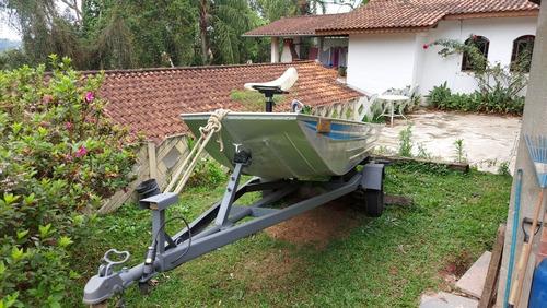 Imagem 1 de 15 de Barco Alumínio Plataforma Semi-chato 5mt +carreta Rodoviária