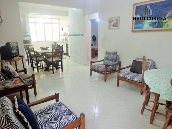 Guarujá, Enseada Lindo Apartamento Reformado, 2 Amplos Dormitórios, Mobiliado, Próx. A Praia. - Ap0275