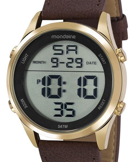 Relógio Mondaine Masculino Couro Digital 53964gpmvdh1
