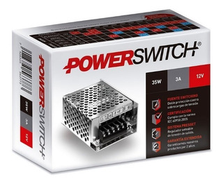 Fuente Switching 110-220 / 12 Vdc 3a. Arealed Rosario