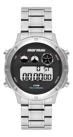 Relógio Digital Mormaii Vibe Prata Mobj3753aa/1p