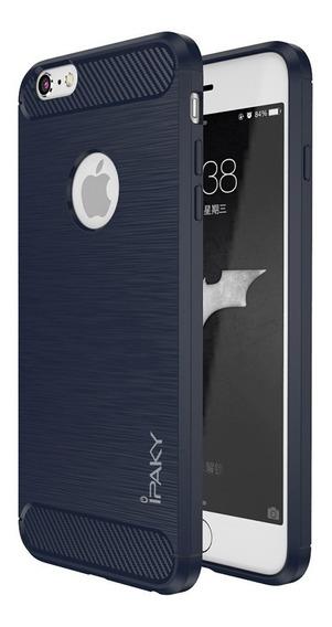 Funda iPhone 7 X Xs 6 6s Se 5s Plus Fibra Carbono Resistente