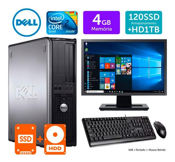 Computador Usado Dell Opt Int C2q 4gb Ddr3 Ssd120+1tb M19w