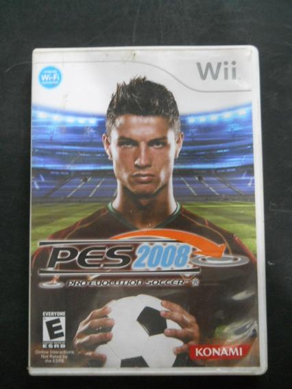 Jogo Pes 2008 - Wii - Jogo Em Inglês E Espanhol