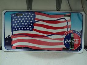 Placa Coca Cola Comemorativa Usa Importada