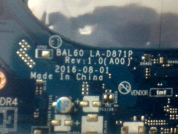 Placa Mãe I3 Dell I15 5566 5468 Bal60 La-d871p Ddr4-p/reparo
