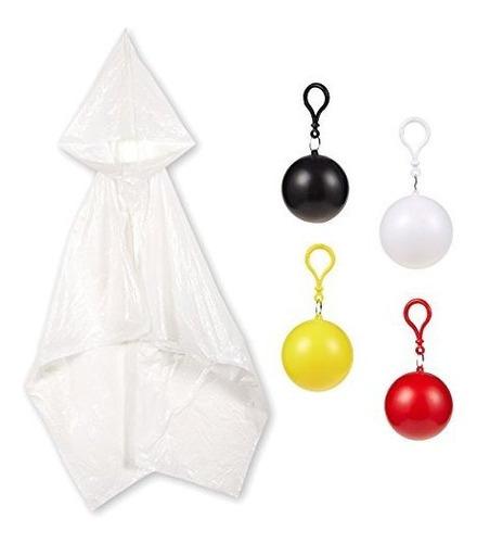 Pack De 4 Ponchos Desechables Para Niños Con Bola  Impermea