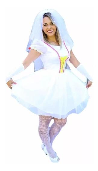 Vestido De Noiva De Festa Junina Caipira Com Manga E Luva