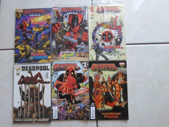 Lote Com 6 Hqs Deadpool Extra E Mensais Diversas Panini