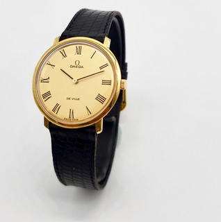 Reloj Omega De Ville Chapa De Oro De Cuerda Original