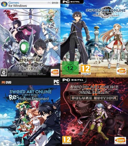 Sword Art Online Kit - 4 Jogos Da Serie Pc Game