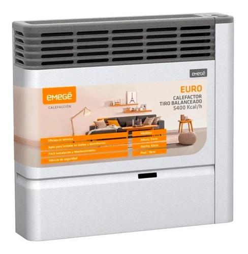 Imagen 1 de 6 de Calefactor Emege Euro 2155tb 5400 Kcal Tiro Balanceado A Gas