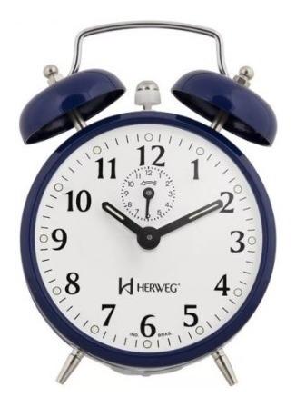 Despertador Mecânico Vintage Herweg Ref: 2208-011 Retrô