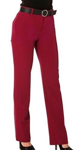 Pantalon Vestir Dama Gmt 1864 Rojo 28-36 080-689 T4