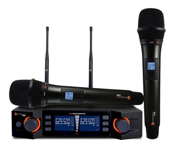 Microfone Kadosh Duplo Sem Fio K492m Uhf Digital