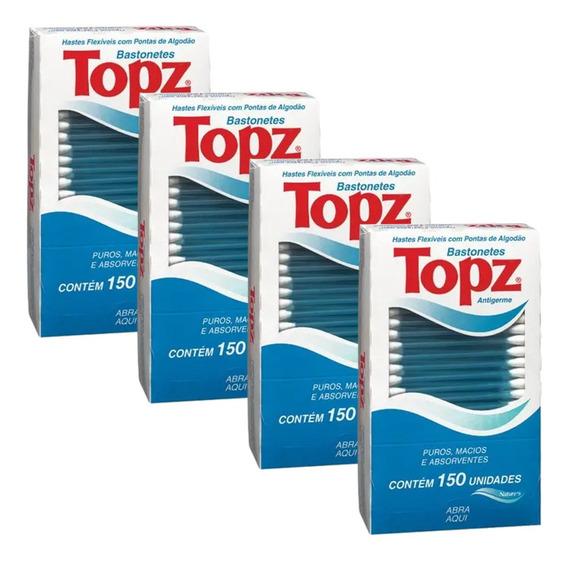 Cotonetes Topz Hastes Flexíveis 600 Unidades Combo4