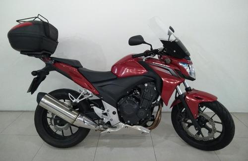 Imagem 1 de 15 de Moto Honda Cb 500f Vermelha 2015 Es