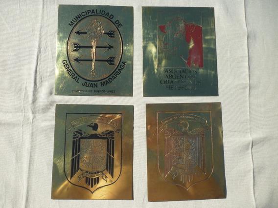 Cartel Antiguo Chapa Bronce Y Enlozado 16x13cm Vs Motivos