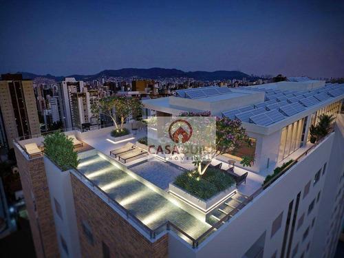 Apartamento Com 1 Quarto À Venda, 44 M²  - Santo Agostinho - Belo Horizonte/mg - Ap1201