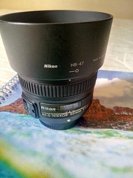 Lente Nikon 50mm 1.8g Excelente Estado