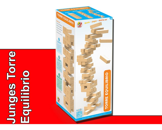 Jogo Infantil Torre Equilibrio Torremoto Jenga Junges
