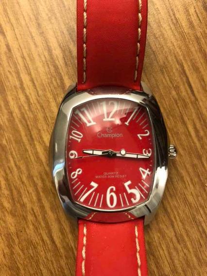 Relógio Feminino Vermelho Champion