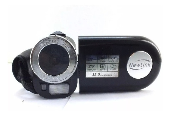 Promoção Camera Filmadora Newlink 12mp Preta