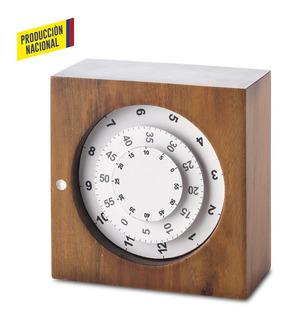 Reloj De Mesa Orbis En Madera