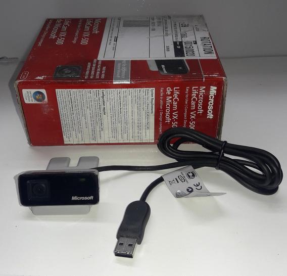 Webcam Microsoft Livecam Vx-500 Câmera Vídeo Pcs Nova Na Cx.