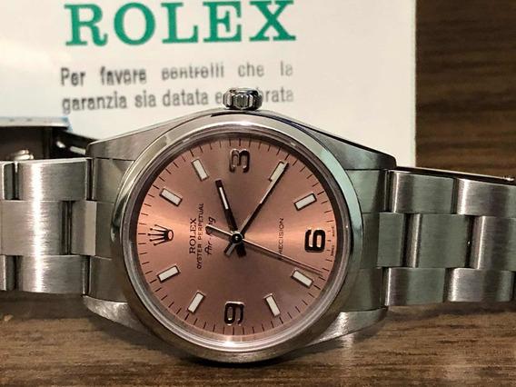 Relógio Rolex - Air King - 14000 M Automático Salmão