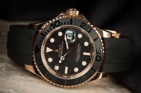 Relógio Yacht Master Automático Vidro Safira Promoção