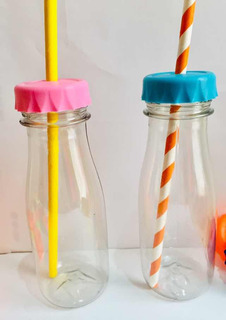 Botella Candy Plástica Con Tapón Perforado Souvenirs X 50 Un