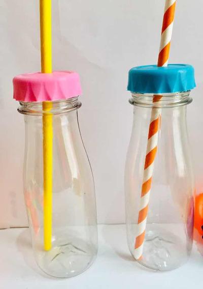 Botella Candy Plástica Con Tapón Perforado Souvenirs X 25 Un