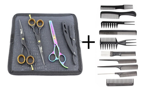 Kit Tesouras Profissionais 6.0 Black