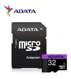 Cartão De Memória Adata Mlcrosdxc 32gb C10 Com Adaptador