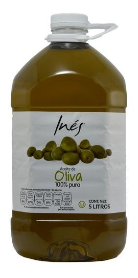 Aceite De Oliva 100% Puro 5 Litros Inés