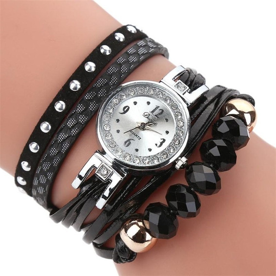 Relógio Feminino Pulseira Cristal Strass Moda Fashion Luxo