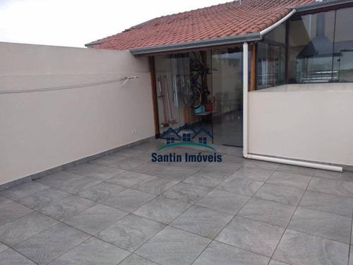 Cobertura Sem Condomínio De 100 M² Com 02 Quartos Planejados (sendo 01 Suíte) À Venda, Por R$ 320.000 - Parque Das Nações - Santo André/sp - Co0649